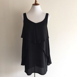 Urban Outfitters black flowy shift dress, M